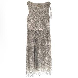 Collette Dinnigan Black and White Lace Dress