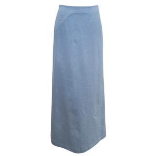 Osman 'Dallas' Blue Denim Maxi Skirt