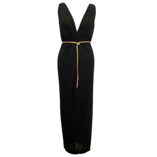 Ultra Ozbek Black Maxi Dress