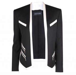 Balmain Black and White Jacket