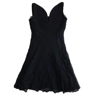 Versus Versace Black Lace Dress