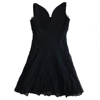 Versus Versace Black Lace Dress