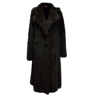 Hockley Black Rabbit Fur Long Coat