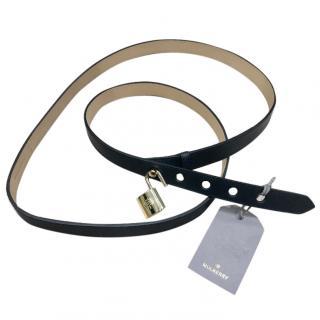 Mulberry Double Wrap Padlock Belt Black