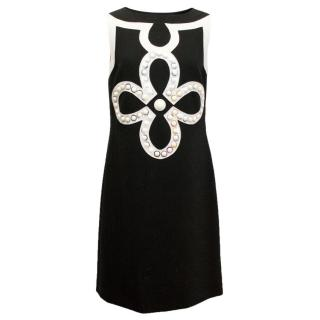 Tory Burch Black And White A-Line Dress