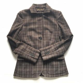 Loro Piana checked 100 % cashmere blazer / jacket