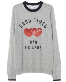 Zoe Karssen Good Times 'Bad Friends' Cashmere Jumper
