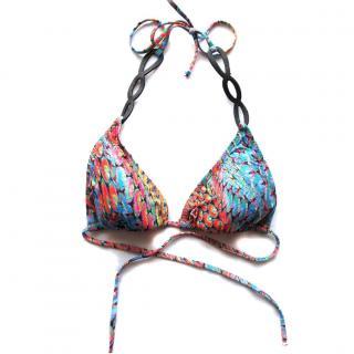 PilyQ Firefly triangle leather bikini top swimwear $152