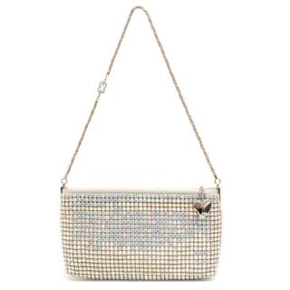 Escada Silver Crystal Encrusted Small Evening Shoulder Bag