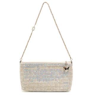Escada Silver Crystal Encrusted Small Evening Shoulder Bag