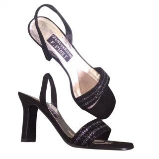 Vintage Stuart Weitzman beaded slingback heels