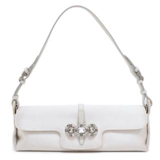 Jimmy Choo Grey Small Shoulder Bag With Silver Embellishments