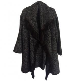 Etro Wool-blend Fringed Cardigan
