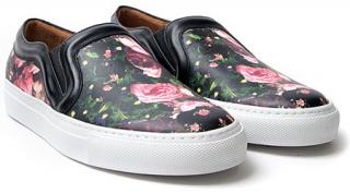 Givenchy Sneakers in Floral print and Black Leather