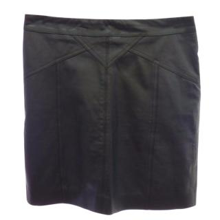 Marc by Marc Jacobs Black Leather Mini skirt