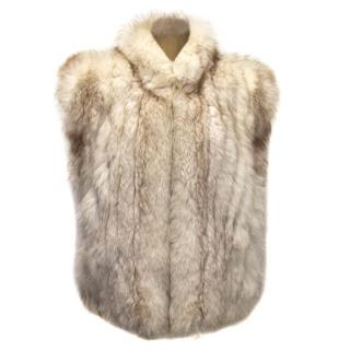 Cream Fox Fur Gilet