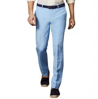 Ralph Lauren Purple Label blue cashmere trousers