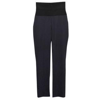 Osman Navy Pinstripe Trousers
