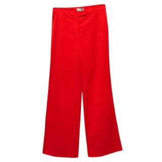 Osman Red Wide Leg Trousers