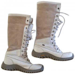UGG's White Sheepskin Winter Boots