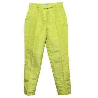 Osman Lime Green Skinny Trousers