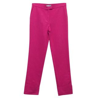 Osman Hot Pink Trousers With Turn Ups