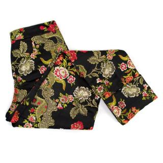 Osman Black Floral Patterned Trousers