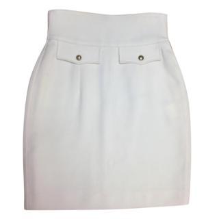 Yves Saint Laurent Cream/white wool skirt