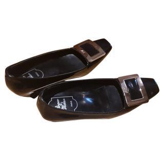 Roget Vivier black shoes size 37