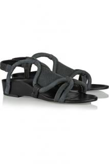 3.1 Phillip Lim Anthracite Marquise Nubuck Sandals Charcoal Grey UK5.5
