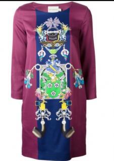 Mary Katranatzou Purple Print Shift Dress w/ Tag