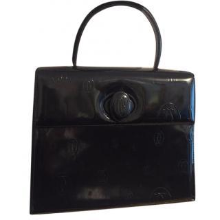 Cartier navy leather bag