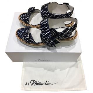 3.1 Phillip Lim Mallory Navy Sandal