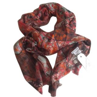 Lily&Lionel soft red print scarf