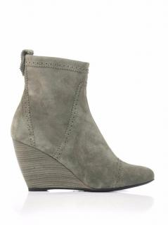 Balenciaga Grey Suede Ankle Wedge Boots