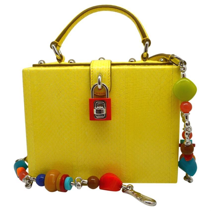 Dolce Gabbana Mini Sicily Crocodile And Python Bag HEWI Lon detailing c6179  13e35  Dolce Gabbana Exotic Leather Python Handbag Miss Rosaria0842 size 40  ... 414cb86d37