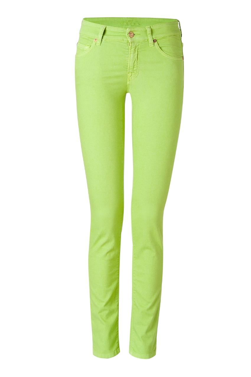 7 for all man kind 'cristen' green skinny jeans