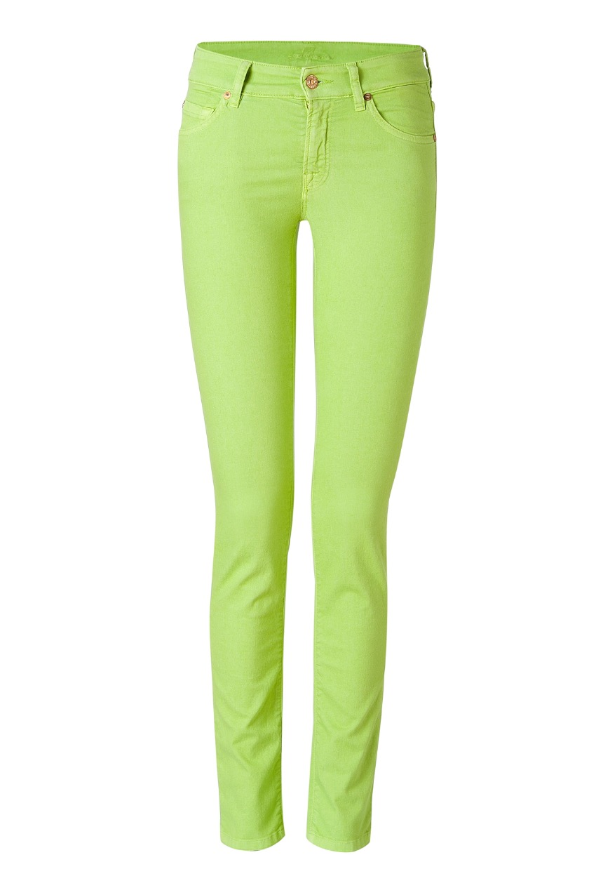 7 for all man kind 'cristen' green skinny jeans