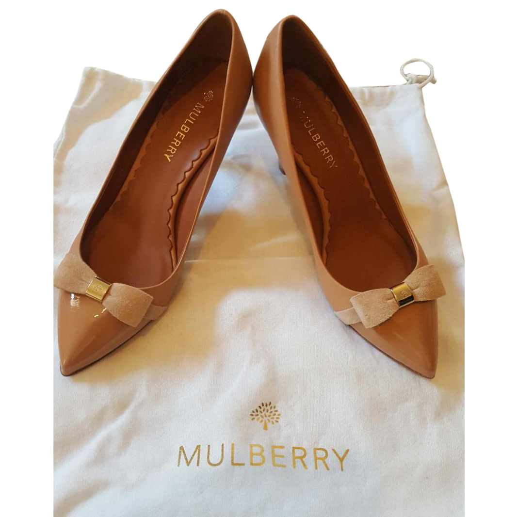 455a06ef5d20 Mulberry Bow Mid Heel Pump