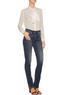 MIH jeans distressed mid-rise straight-leg jeans