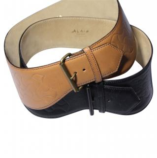 Alaia tan and black belts
