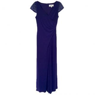 Badgley Mischka evening gown in indigo