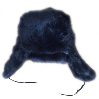 Russian Black fur trapper hat