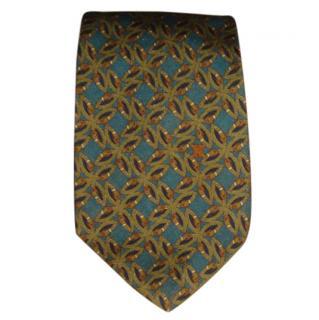 Celine green silk tie