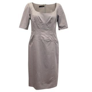 Amanda Wakeley Grey Short Sleeve Midi Dress