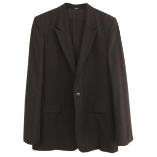 Helmut Lang Black Wool Single Button Blazer