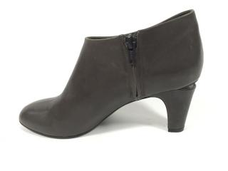 Marc Jacobs Grey Booties with Cut Out Heel