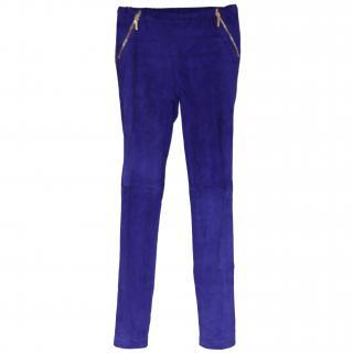 Pucci Cobalt Blue Suede Leggings