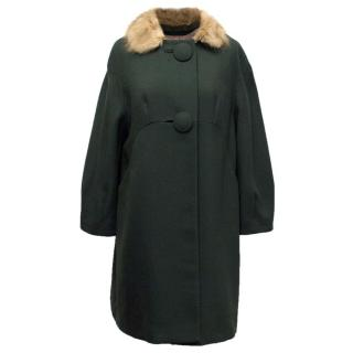 Tara Jarmon Bottle Green Coat