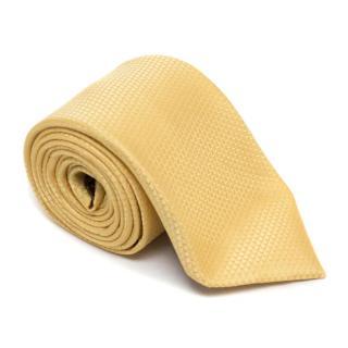 Brioni Yellow textured Silk Tie